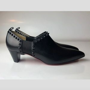 Louboutin Vicky 45 Calf Brosse Ankle Boots Euro 38